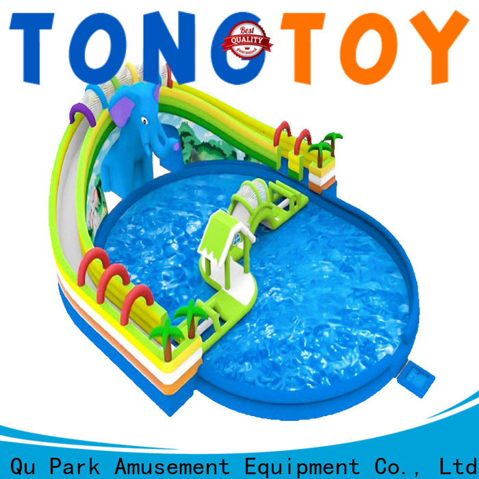 Tongtoy inflatable double water slide for business