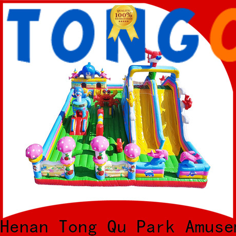 Tongtoy Heat resistant blow up bounce house wholesale for kids