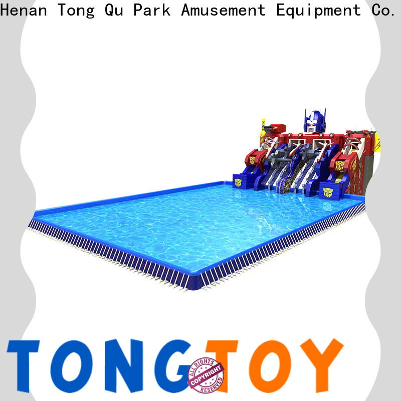 Tongtoy fire-resistant best inflatable water slide manufacturers for swimming pool
