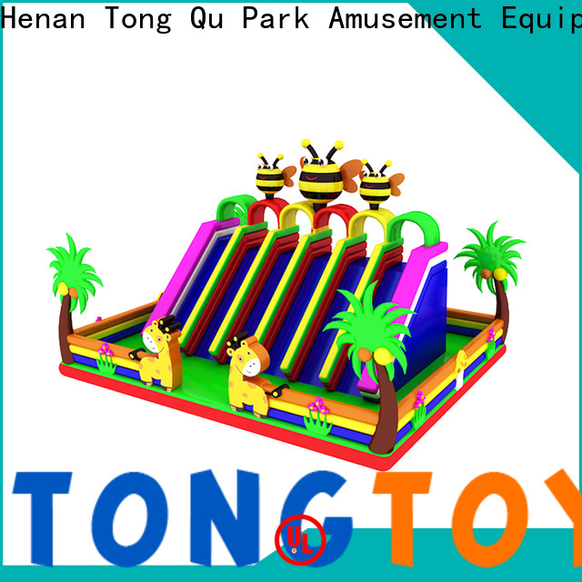 Tongtoy PVC wet and dry inflatable slide factory price for outdoor