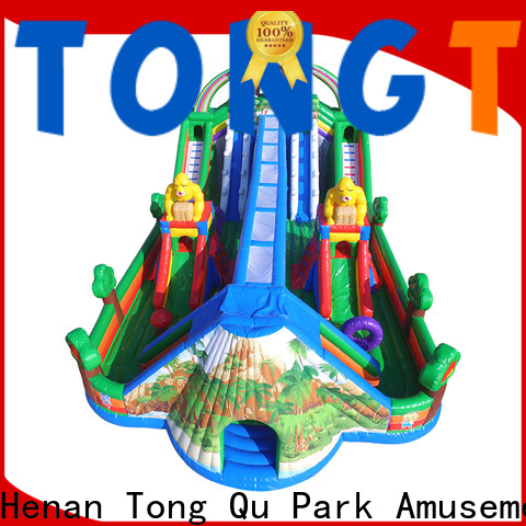 Tongtoy commercial bounce house with slide for sale inquire now for adult