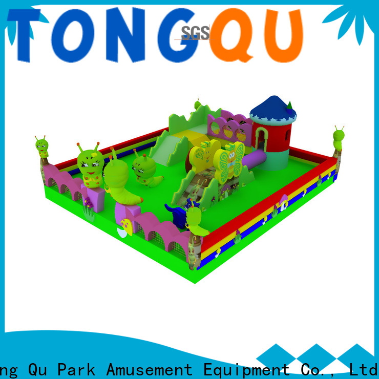Tongtoy castle bounce house with slide supplier for kids
