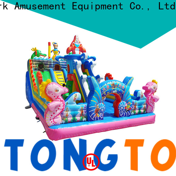 Tongtoy dual lane tropical water slide wholesale for outdoor