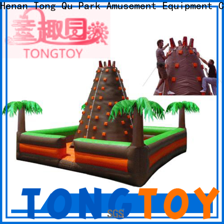 Tongtoy inflatable rock climbing wall kids order now for big events