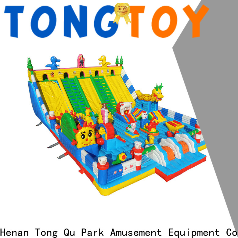 Tongtoy colorful biggest inflatable water slide supplier for outdoor