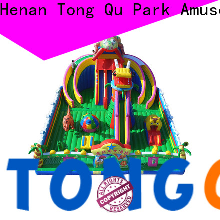 Tongtoy colorful big inflatable slide wholesale for outdoor
