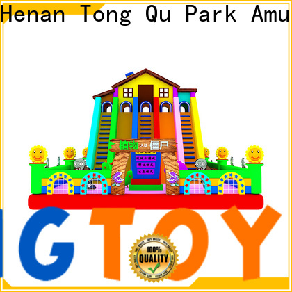 Tongtoy castle bounce house with slide from China for indoor