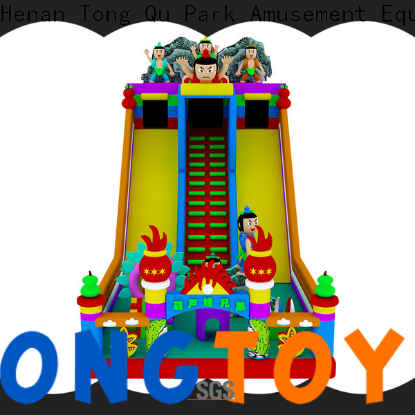 Tongtoy Best castle bounce house with slide from China for amusement park