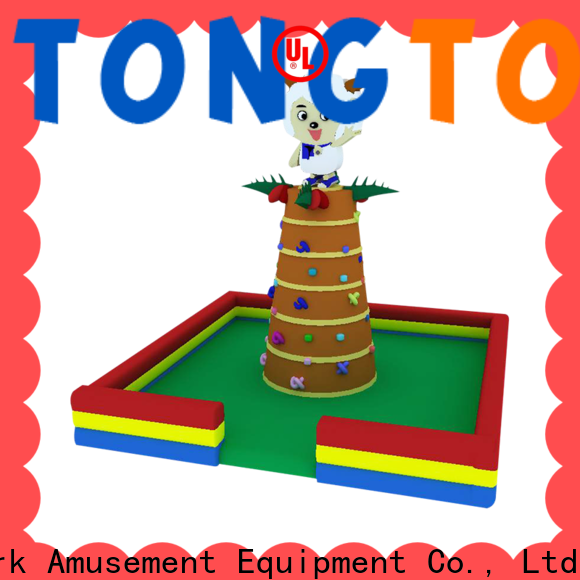 Tongtoy inflatable climbing wall and slide order now for carnivals