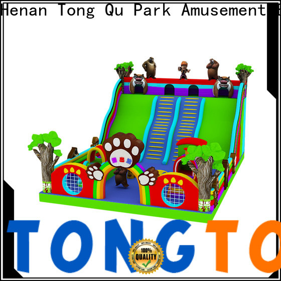 Tongtoy wet and dry inflatable slide factory price for outdoor