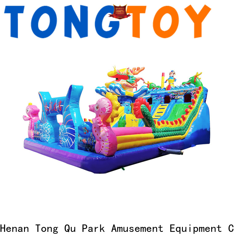 Tongtoy fire-resistant inflatable water slides for adults inquire now for kids