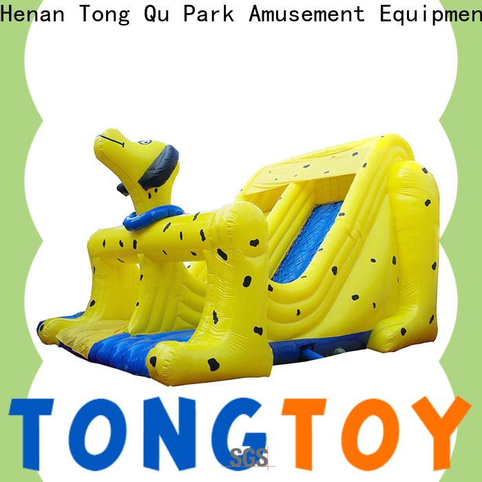 PVC castle bounce house with slide factory price for amusement park