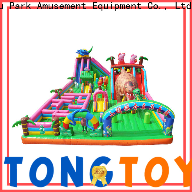 Tongtoy colorful water bouncer with slide supplier for adult