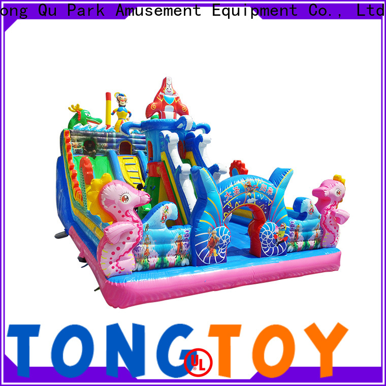 Tongtoy fire-resistant cheap commercial bounce houses wholesale for kids