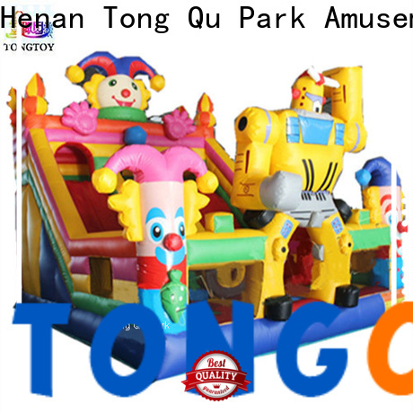 Tongtoy colorful inflatable bounce slide inquire now for outdoor