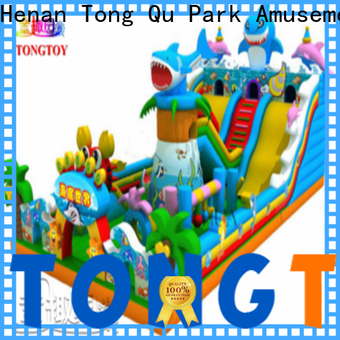 Tongtoy commercial bounce house with slide for sale supplier for outdoor
