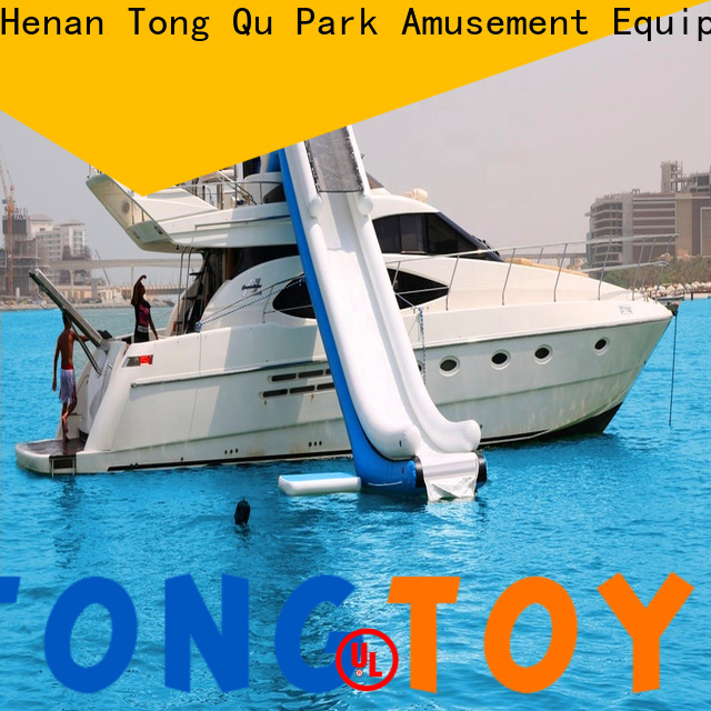 Tongtoy fire-resistant outside inflatable water slide order now for water park