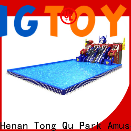 Top inflatable water slide into pool manufacturers for swimming pool