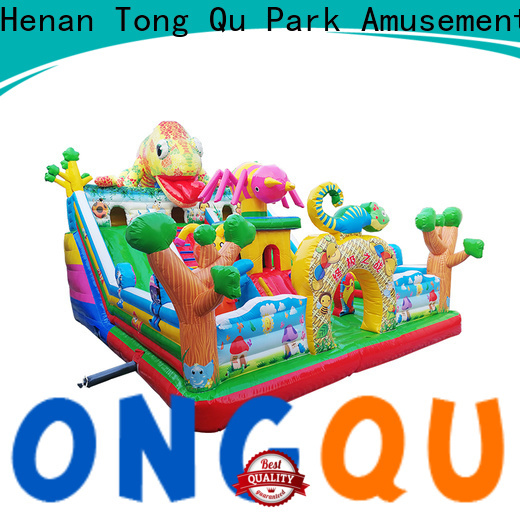 Tongtoy Heat resistant inflatable bouncers with slide supplier for kids
