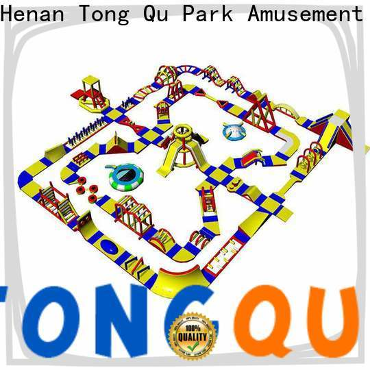 Tongtoy inflatable water park on lake company for playground