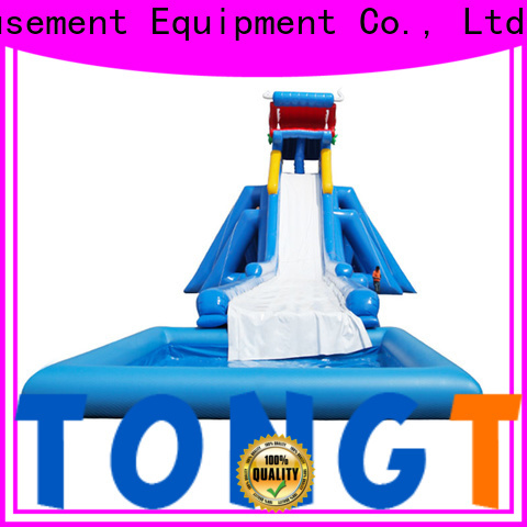 Tongtoy water-proof big blow up slide order now for water park
