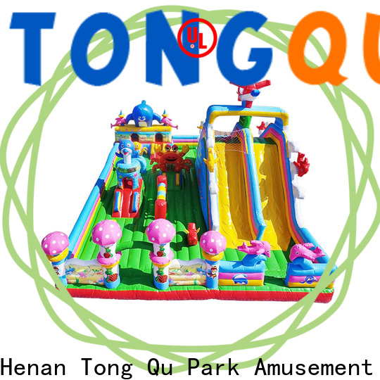 Tongtoy water-proof water bouncer with slide wholesale for outdoor