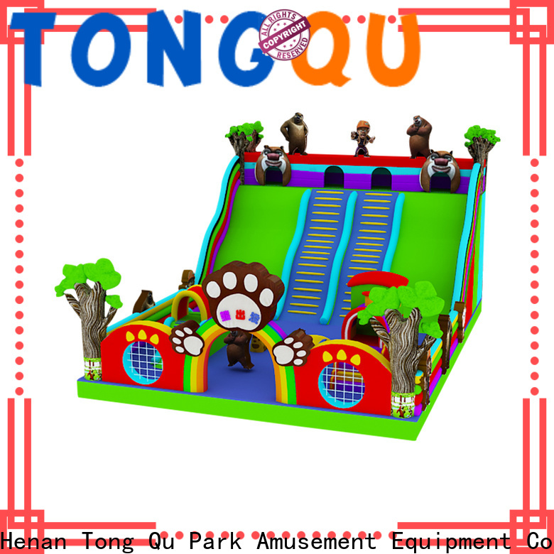 Tongtoy colorful kids inflatable slide factory price for outdoor
