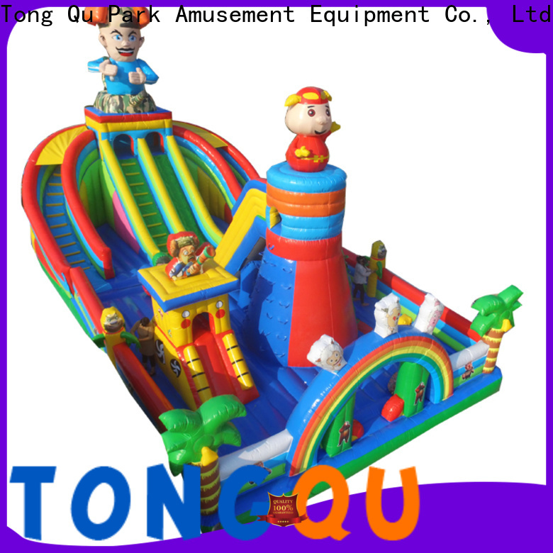 Tongtoy fire-resistant giant inflatable slide supplier for outdoor