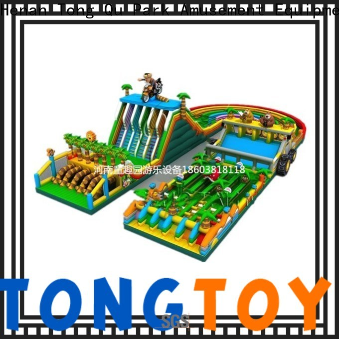 Tongtoy New obstacle course bounce house for sale for business for amusement park