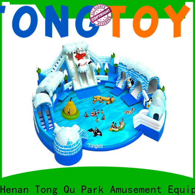 Wholesale custom air blow up water slides order now for swimming pool