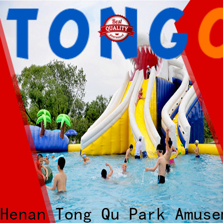 Tongtoy customized water slide bounce house combo factory price for water park