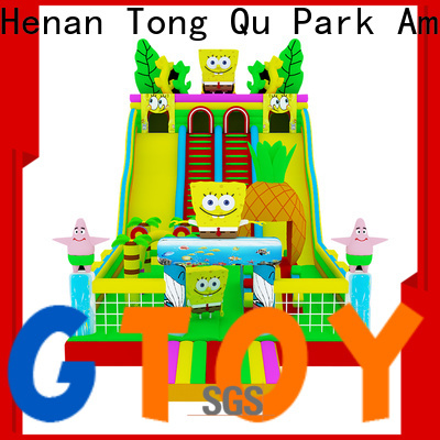 Tongtoy colorful inflatable toddler slide reputable manufacturer for indoor