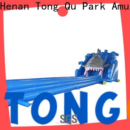 Tongtoy shark inflatable water slide order now for swimming pool