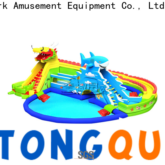 Tongtoy inflatable water slide and pool factory price for swimming pool