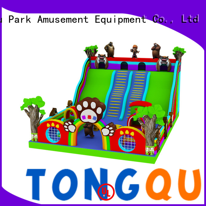 colorful bouncy slide from China for indoor