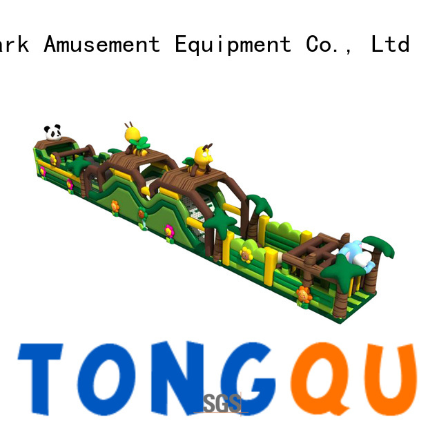 Tongtoy obstacle course bounce house customized for amusement park