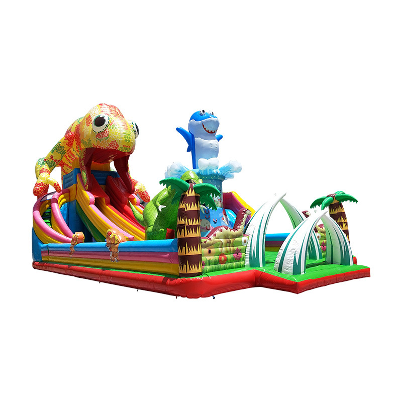 inflatable dragon theme bouncy slide for amusement park