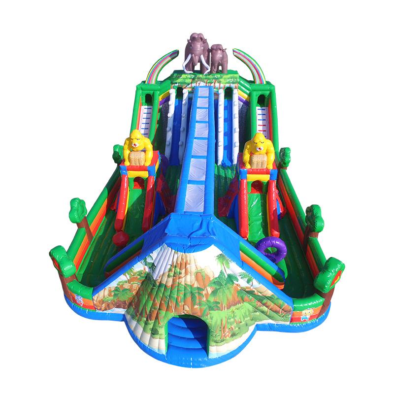 inflatable jumping bouncy castle combo giant mini slip n slides