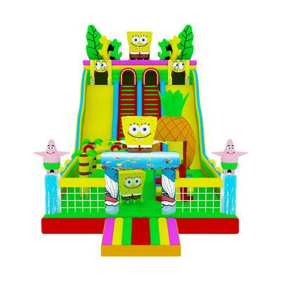 inflatable colorful sponge bob theme bouncy slide for sale
