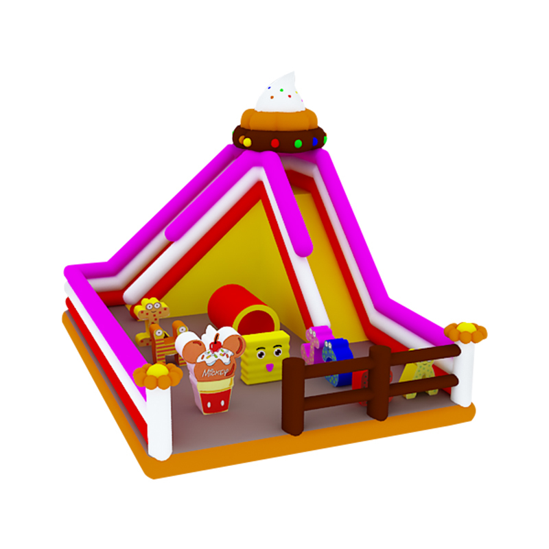 icecream theme inflatable slide with toys for kids fun