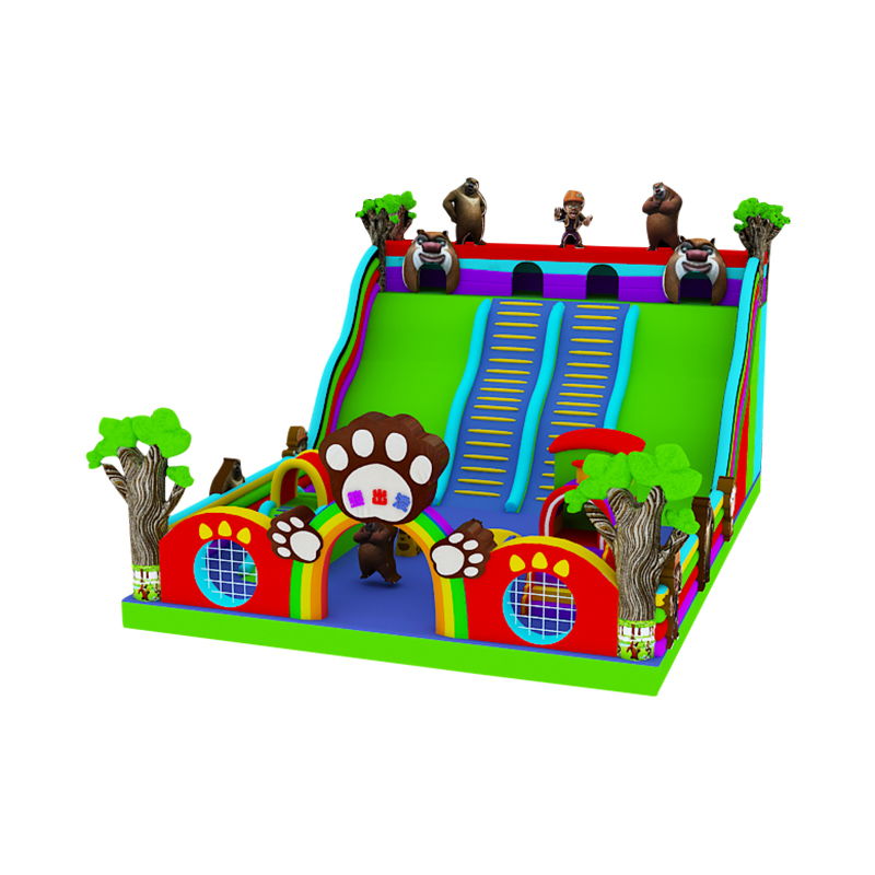 factory direct cheap price bear theme inflatable slide for sale