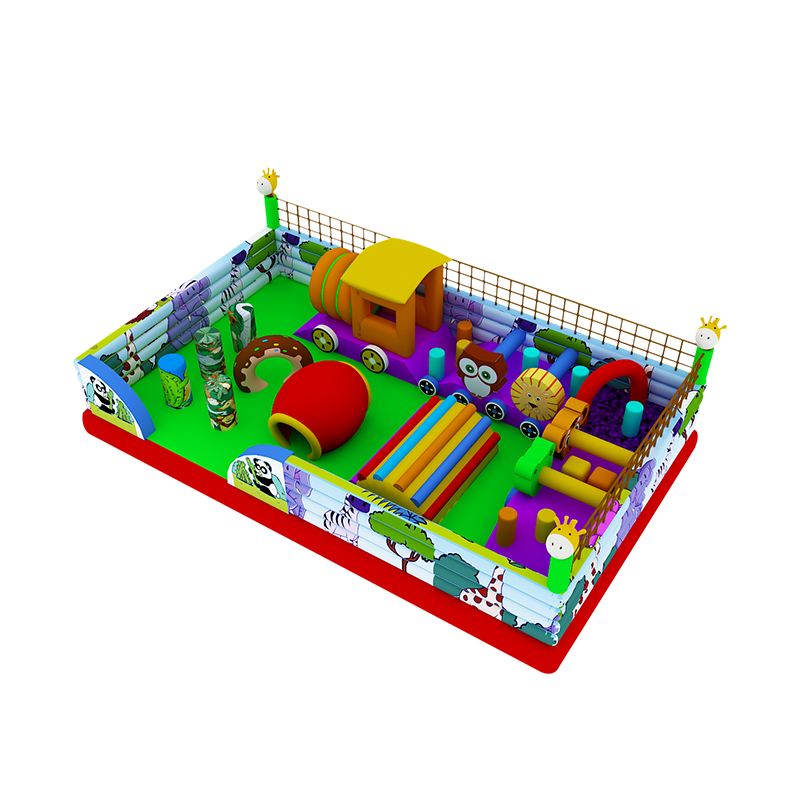 multiple inflatable bouncer obstacle course for kids and adults