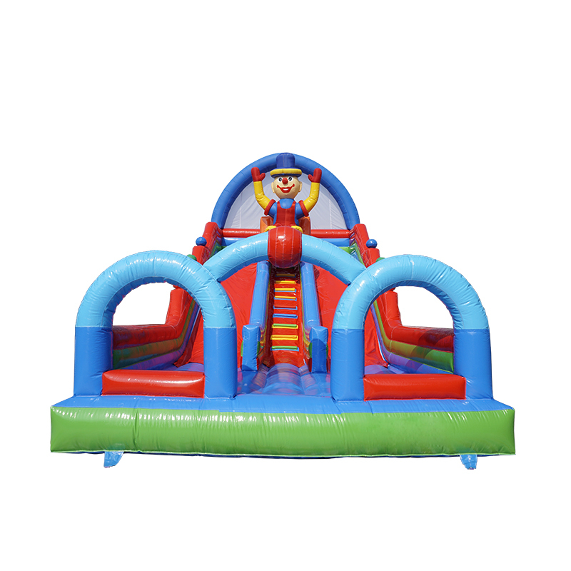 Commercial Inflatable Clown Bouncy Castle Slide for kids