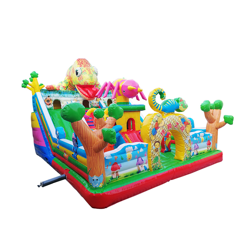 factory direct inflatable bouncy giant mini slide, fun outdoor park equipment