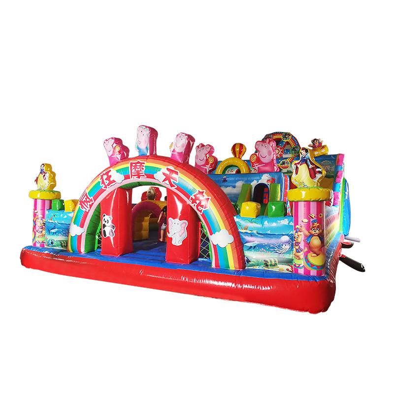 hot sale ferris wheel peppa pig theme bouncy slide for birthday party
