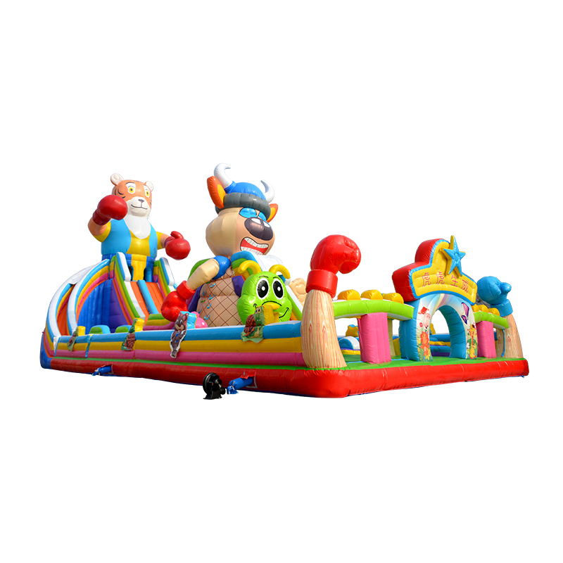 Huge Inflatable Amusement Park Kids Funny Inflatable Combo Bouncer Slide for sale