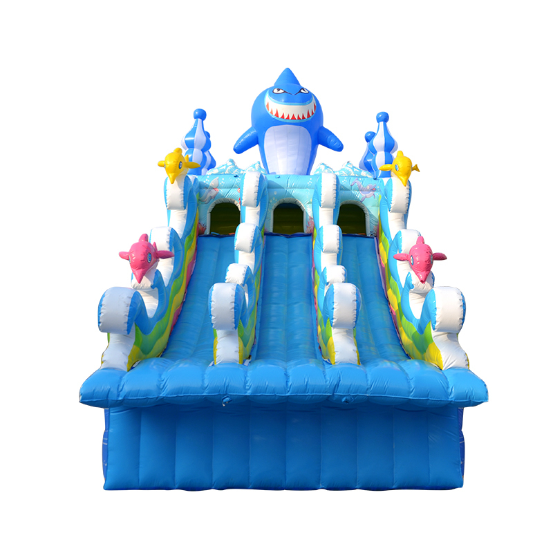 2019 new design outdoor commercial used inflatable triple lane water slides for sale