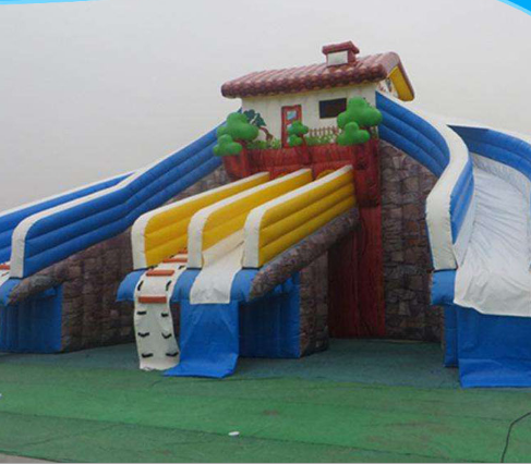 best price summer water park slide city with inflatable pool for kids adults