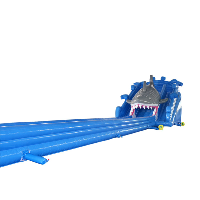 slip and slide Shark gonflable inflatable water slide for summer