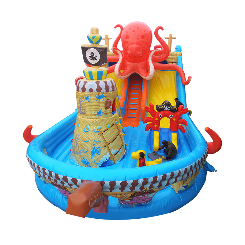 colorful inflatable bouncer with slides toys for kids and sdults